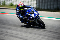 9th July 2020; Circuit de Barcelona Catalunya, Barcelona, Spain; FIM Superbike World Championship Test, Day Two; Steven Odendaal of the EAB Ten Kate Racing in action with the Yamaha YZF R6