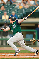 Charlotte designated hitter Brian Anderson (20) follows through on his swing versus Louisville at Louisville Slugger Field in Louisville, KY, Wednesday, June 6, 2007.