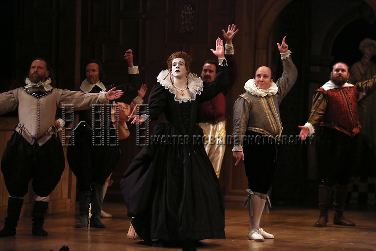 Joseph Timms, Paul Chahidi and the cast during at the Broadway Opening Night Performance Curtain Call for 'Richard III' at the Belasco Theatre on November 10, 2013 in New York City.