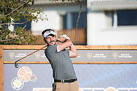 Mike Lorenzo-Vera (FRA) watches his tee shot on the 12th hole during second round at the Omega European Masters, Golf Club Crans-sur-Sierre, Crans-Montana, Valais, Switzerland. 30/08/19.<br /> Picture Stefano DiMaria / Golffile.ie<br /> <br /> All photo usage must carry mandatory copyright credit (© Golffile | Stefano DiMaria)