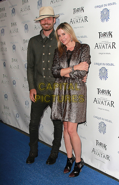 11 November 2016 - Los Angeles, California - Christopher Backus, Mira Sorvino. Cirque du Soleil &quot;Toruk - The First Flight&quot; Opening Night held at Staples Center. <br /> CAP/ADM/PMA<br /> &copy;PMA/ADM/Capital Pictures