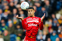 29th December 2019; The Hawthorns, West Bromwich, West Midlands, England; English Championship Football, West Bromwich Albion versus Middlesbrough; Ashley Fletcher of Middlesbrough brings a long ball under control with his head - Strictly Editorial Use Only. No use with unauthorized audio, video, data, fixture lists, club/league logos or 'live' services. Online in-match use limited to 120 images, no video emulation. No use in betting, games or single club/league/player publications