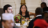 Actress Sakina Jaffrey, who played Linda Vasquez, the Chief Of Staff in the Netflix series 'House of Cards' attends an Iftar dinner celebrating Ramadan in the East Room of the White House in Washington, DC, Monday, June 22, 2015.<br /> Credit: Olivier Douliery / Pool via CNP