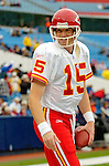 13 November 2005: Kansas City Chiefs quarterback Todd Collins takes some pre-game practice prior to facing the Buffalo Bills at Ralph Wilson Stadium in Orchard Park, NY. The Bills defeated the Chiefs 14-3. ..Mandatory Photo Credit: Ed Wolfstein