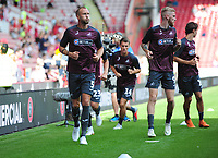Swansea City's Mike van der Hoorn during the pre-match warm-up for the Sky Bet Championship match between Sheffield United and Swansea City at Bramall Lane, Sheffield, England, UK. Saturday 04 August 2018