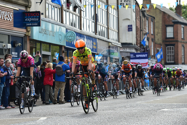 The peloton during the ASDA Women's Tour de Yorkshire 2017 running 122.5km from Tadcaster to Harrogate, England. 29th April 2017. <br /> Picture: ASO/P.Ballet | Cyclefile<br /> <br /> <br /> All photos usage must carry mandatory copyright credit (&copy; Cyclefile | ASO/P.Ballet)