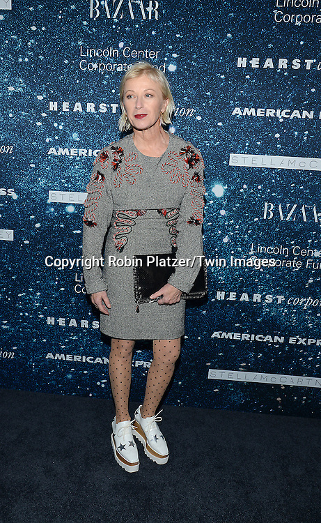 Cindy Sherman attends the Stella McCartney Honored by Lincoln Center at Gala on November 13, 2014 at Alice Tully Hall in New York City, USA. She was given the Women's Leadership Award which was presented bythe LIncoln Center for the Performing Arts' Corporate Fund.<br /> <br /> photo by Robin Platzer/Twin Images<br />  <br /> phone number 212-935-0770