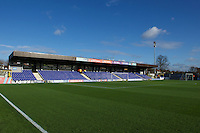A general view of the ground before the Sky Bet League 2 match between AFC Wimbledon and Wycombe Wanderers at the Cherry Red Records Stadium, Kingston, England on 21 November 2015. Photo by Alan  Stanford/PRiME.