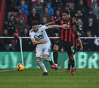 Bournemouth's Joshua King (right) battles with Wolverhampton Wanderers' Matt Doherty (left) <br /> <br /> Photographer David Horton/CameraSport<br /> <br /> The Premier League - Bournemouth v Wolverhampton Wanderers - Saturday 23 February 2019 - Vitality Stadium - Bournemouth<br /> <br /> World Copyright © 2019 CameraSport. All rights reserved. 43 Linden Ave. Countesthorpe. Leicester. England. LE8 5PG - Tel: +44 (0) 116 277 4147 - admin@camerasport.com - www.camerasport.com
