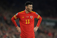 Kiefer Moore of Wales during the UEFA Euro 2020 Group E Qualifier match between Wales and Hungary at the Cardiff City Stadium in Cardiff, Wales, UK. Tuesday 19th November 2019