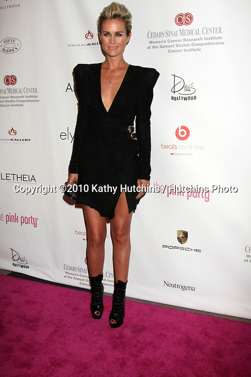 LOS ANGELES - SEP 25:  Laeticia Hallyday arrives at the Pink Party 2010 at W Hollywood Hotel on September 25, 2010 in Los Angeles, CA