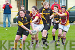 Abbeyfeale V Bruff Munster Women's Cup which took place on Sunday in the Grove Abbeyfeale. Abbeyfeale's Irene Dillane helping her team on the way to a try and an inevitable victory.