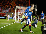 Martyn Waghorn celebrates his second goal of the match for Rangers