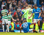 11.3.2018 Rangers v Celtic:<br /> Aldredo Morelos and Bruno Alves