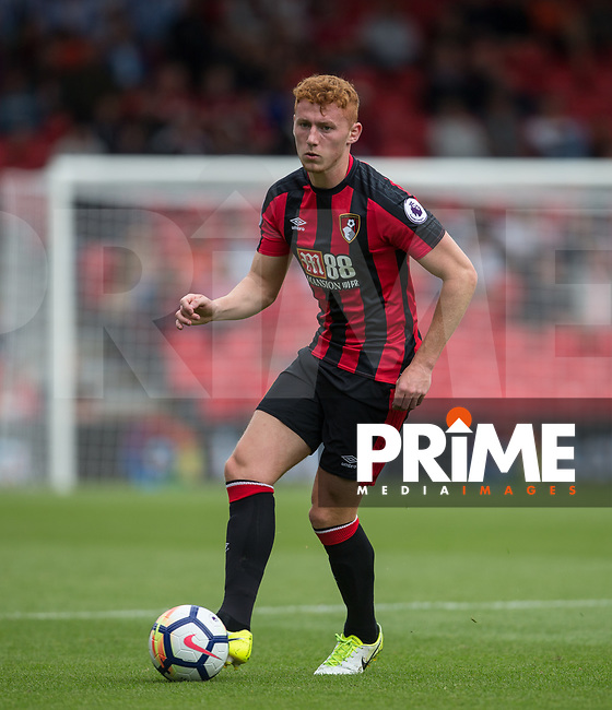 Matt Worthington of AFC Bournemouth during the Friendly match between Bournemouth and Valencia  at the Goldsands Stadium, Bournemouth, England on 30 July 2017. Photo by Andy Rowland.