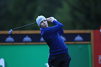 Matthew Fitzpatrick (ENG) tees off the 16th tee during Sunday's fog delayed Round 3 of the 2017 Omega European Masters held at Golf Club Crans-Sur-Sierre, Crans Montana, Switzerland. 10th September 2017.<br /> Picture: Eoin Clarke | Golffile<br /> <br /> <br /> All photos usage must carry mandatory copyright credit (&copy; Golffile | Eoin Clarke)