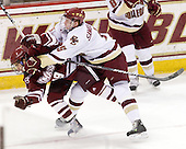 James Marcou (UMass - 19), Philip Samuelsson (BC - 5) - The Boston College Eagles defeated the University of Massachusetts-Amherst Minutemen 5-2 on Saturday, March 13, 2010, at Conte Forum in Chestnut Hill, Massachusetts, to sweep their Hockey East Quarterfinals matchup.