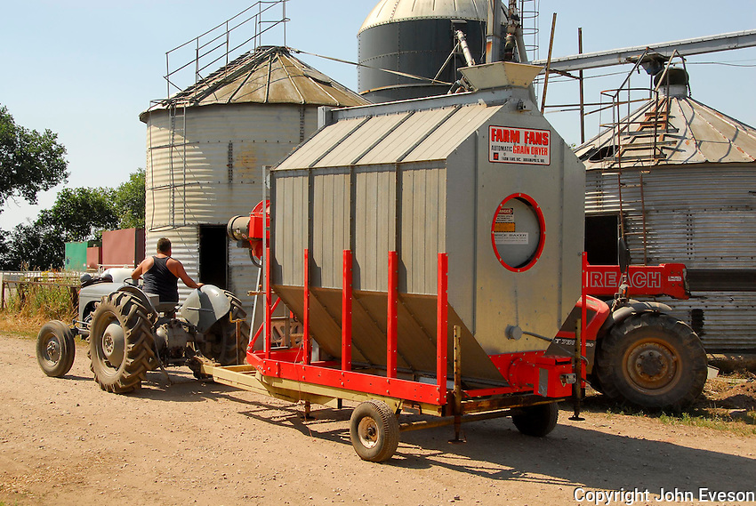 Mobile grain dryer, Doncaster, Yorkshire.