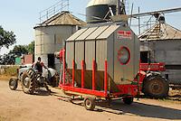Mobile grain dryer, Doncaster, Yorkshire.