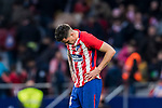 Jose Maria Gimenez de Vargas of Atletico de Madrid reacts after the La Liga 2017-18 match between Atletico de Madrid and Girona FC at Wanda Metropolitano on 20 January 2018 in Madrid, Spain. Photo by Diego Gonzalez / Power Sport Images