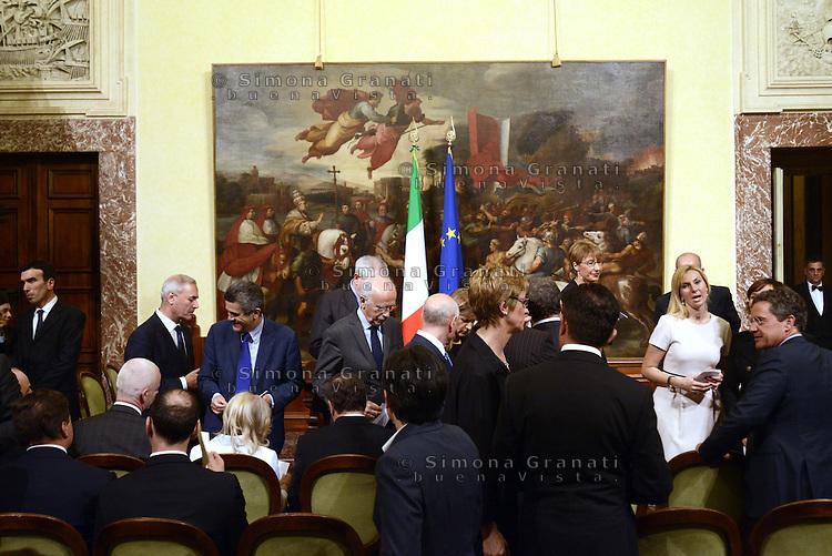 Roma, 3 Mag 2013.Giuramento a Palazzo Chigi dei Sottosegretari e Viceministri del Governo Letta..