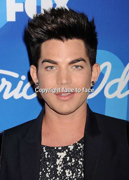 LOS ANGELES, CA- MAY 16: Singer Adam Lambert poses in the press room at FOX's 'American Idol' Grand Finale at Nokia Theatre L.A. Live on May 16, 2013 in Los Angeles, California...Credit: Mayer/face to face..- No Rights for USA, Canada and France -