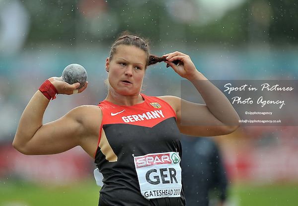Christina Schwanitz (GER). Womens shot put.  Day 2. European Team Athletics Championships. Gateshead. Tyne and Wear. UK. 23/06/2013. <br />  MANDATORY Credit Garry Bowden/SIPPA - NO UNAUTHORISED USE - 07837 394578