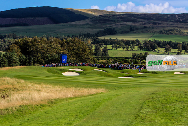 Looking down the 8th during Day 1 Fourball at the Solheim Cup 2019, Gleneagles Golf CLub, Auchterarder, Perthshire, Scotland. 13/09/2019.<br /> Picture Thos Caffrey / Golffile.ie<br /> <br /> All photo usage must carry mandatory copyright credit (© Golffile   Thos Caffrey)