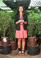 Owner and Principal of Good Meds Network Kristi Kelly (cq) at one of the company's grow houses in Denver, Colorado, Monday, July 21, 2014. <br /> <br /> Photo by Matt Nager