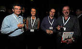 drinks reception, Oil and Gas Decommissioning Conference, Dunblane Hydro - l to r -  Stuart Robertson, Stacey Hopkin, Jim Blacklaws and Mike Saxon - 6.10.10 - picture by Donald MacLeod - mobile 07702 319 738 - clanmacleod@btinternet.com - www.donald-macleod.com