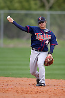 March 18, 2010:  Second Baseman Hyeong-rok Choi (43) of the Minnesota Twins organization during Spring Training at the Ft. Myers Training Complex in Ft. Myers, FL.  Photo By Mike Janes/Four Seam Images