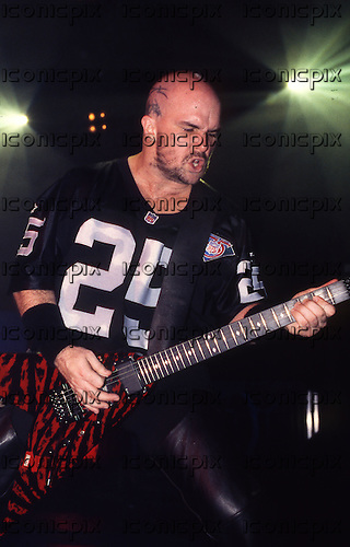 Slayer - guitarist Kerry King - performing live on the European Intourvention Tour at the Academy in Brixton London UK - 09 Nov 1994.  Photo credit: George Chin/IconicPix