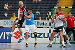 Team Buschis Jens Buss (Nr.06) verteidigt Team Kretsches Stefan Kretzschmar (Nr.73) Rueckhandwurf  beim Tag des Handballs - Team Frank Buschmann vs. Team Stefan Kretzschmar.<br /> <br /> Foto &copy; P-I-X.org *** Foto ist honorarpflichtig! *** Auf Anfrage in hoeherer Qualitaet/Aufloesung. Belegexemplar erbeten. Veroeffentlichung ausschliesslich fuer journalistisch-publizistische Zwecke. For editorial use only.