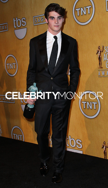 LOS ANGELES, CA - JANUARY 18: RJ Mitte in the press room at the 20th Annual Screen Actors Guild Awards held at The Shrine Auditorium on January 18, 2014 in Los Angeles, California. (Photo by Xavier Collin/Celebrity Monitor)