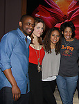 Cast - Dule Hill, Rosie Benton, Tracie Thoms, Lydia R. Diamond - Broadway's Stick Fly at the after party for the last performance on February 26, 2012  at 48 Lounge, New York City, New York.  (Photo by Sue Coflin/Max Photos)