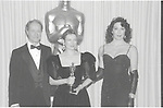 Don Ameche, Dianne Wiest, Anjelica Huston at the Academy Awards 1987