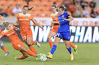 Houston, TX - Sunday Sept. 25, 2016: Ellie Brush, Cami Privett, Manon Melis during a regular season National Women's Soccer League (NWSL) match between the Houston Dash and the Seattle Reign FC at BBVA Compass Stadium.