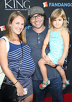 "05 August 2017 - Los Angeles, California - Brad Kane, Sarah Thompson, Daughter. ""The Lion King"" Sing-Along Screening. Photo Credit: F. Sadou/AdMedia"