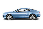 Car Driver side profile view of a 2014 Bentley Continental GT V8 Coupe 2 Door Coupe Side View