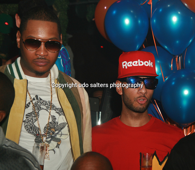Carmelo Anthony and Swizz Beatz Attend New York Knicks' Carmelo Anthony's Birthday Celebration at Greenhouse, NY  5/26/11