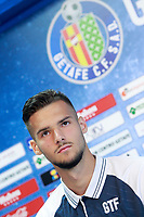 Getafe CF's new player Filip Manojlovic during his official presentation.  August 8, 2017. (ALTERPHOTOS/Acero) /NortePhoto.com