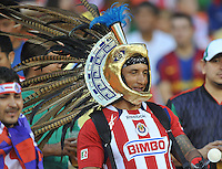 Fan supporting C.D. Guadalajara. C.D.Guadalajara tied D.C. United 1-1 during and international friendly, at RFK Stadium, Friday July 12, 2013.