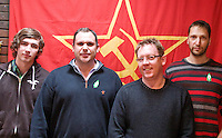 Comrades attending a CPGBML Saklatvala Hall Commemoration which celebrated the centenary of  Kim Il-sung's birth, Easter Sunday 2012
