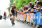 BMC Racing Team at the Team Presentations for the 105th Tour de France 2018 held on Napoleon Square in La Roche-sur-Yon, France. 5th July 2018. <br /> Picture: ASO/Alex Broadway | Cyclefile<br /> All photos usage must carry mandatory copyright credit (&copy; Cyclefile | ASO/Alex Broadway)