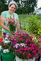 Local flower farmer Lisa Ziegler at The Gardeners Workshop Farm