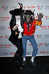 Desiree Gruber and Heidi Klum (right) arrive at Heidi Klum's 18th Annual Halloween Party presented by Party City and SVEDKA Vodka at Magic Hour Rooftop Bar & Lounge at Moxy Times Square, on October 31, 2017.
