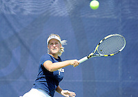 Florida International University tennis player Giulietta Boha plays against the University of Pennsylvania.  FIU won the match 4-3 on March 9, 2012 at Miami, Florida. .