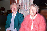 Elizabeth Darby and Nancy Harding at the Slane senior citizens party in Stackallen Pitch and Putt Club..Picture: Paul Mohan/Newsfile