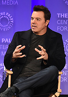 "HOLLYWOOD, CA - MARCH 17: Seth MacFarlane at the PaleyFest 2018 - ""The Orville"" panel at the Dolby Theatre on March 17, 2018 in Hollywood, California. (Photo by Scott Kirkland/Fox/PictureGroup)"