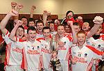 04-03-12: Pobal Scoil Chorcha Dhuibhne celebrate after defeating Colaiste De La Salle Macroom  in the  Munster Colleges Corn Uí Mhuiri Final  at Fitzgerald Stadium, Killarney on Sunday.   Picture: Eamonn Keogh (MacMonagle, Killarney)